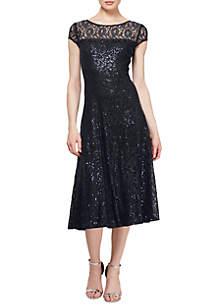 Tea Length Sequin Dress
