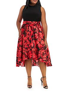 Plus Size Sleeveless Party Dress