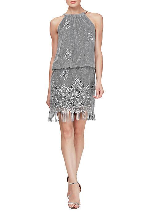 Crochet Blouson Dress