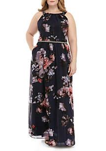 SLNY Plus Size Floral Maxi Dress