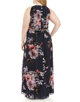SLNY Plus Size Floral Maxi Dress | belk