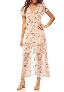 Maxi Floral Ruffle Dress