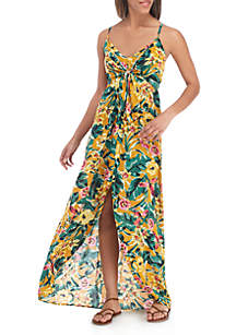 Knot Front High Low Maxi Dress