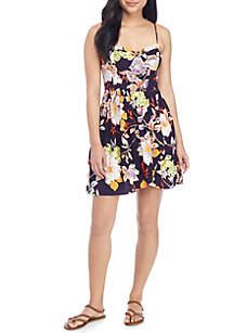 Bra Cup Tropical Dress