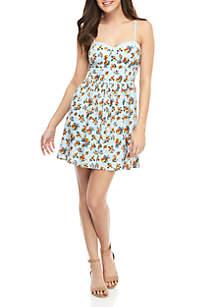 Chance & Destiny Bra Cup Mini Floral Dress