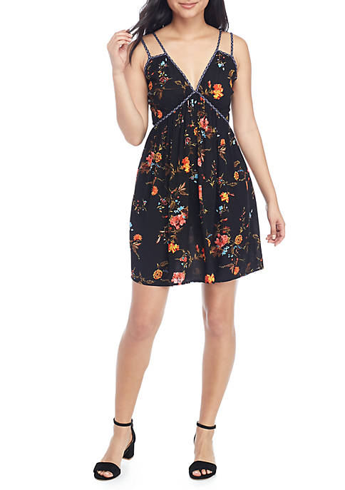 Chance & Destiny Double Strap Twin Print Dress