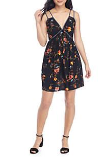 Double Strap Twin Print Dress