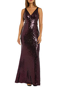 Sleeveless Sequin Long Gown