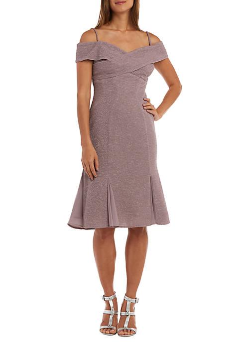 Midi Length Glitter Knit Dress