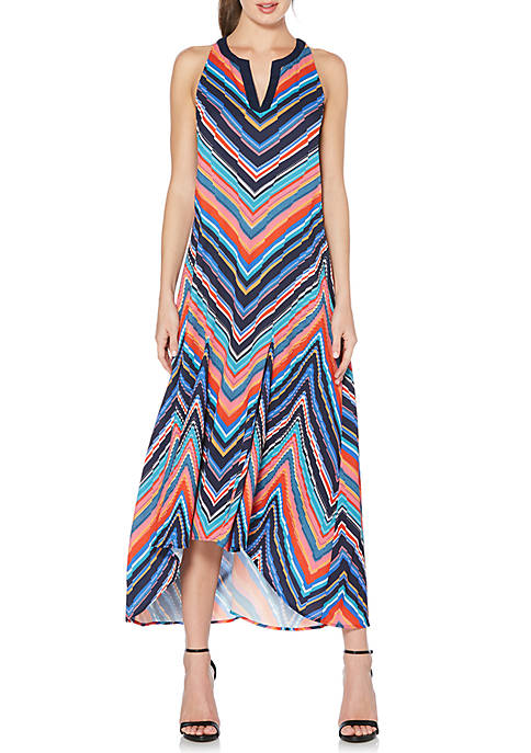 Laundry by Shelli Segal Printed High Low Midi