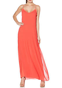 Novelty Pleated Maxi Dress