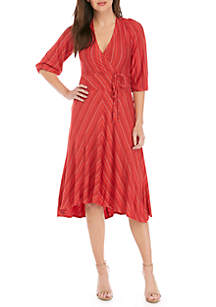 Elbow Sleeve High Low Maxi Dress
