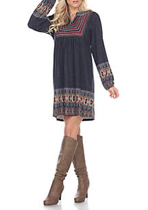 Atara Embroidered Sweater Dress