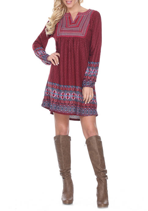 Womens Atara Embroidered Sweater Dress