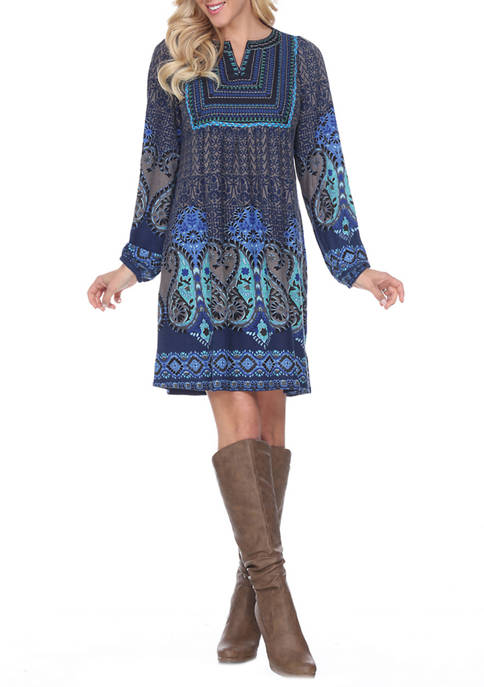 Womens Phebe Embroidered Sweater Dress