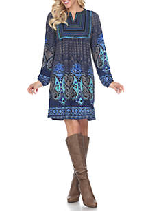 Phebe Embroidered Sweater Dress