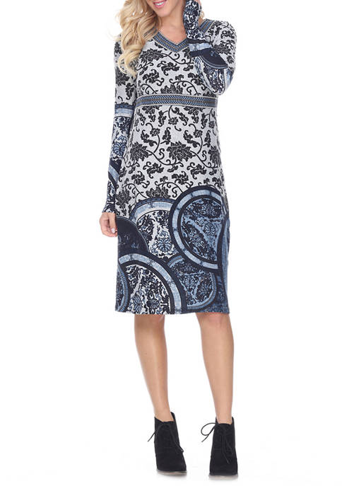 Naarah Embroidered Sweater Dress