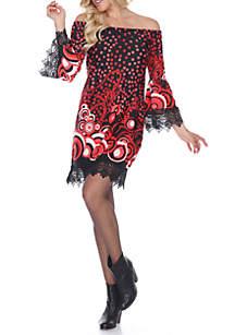 Lenora Lace Trim Dress