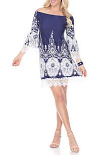 Mya Lace Trim Dress