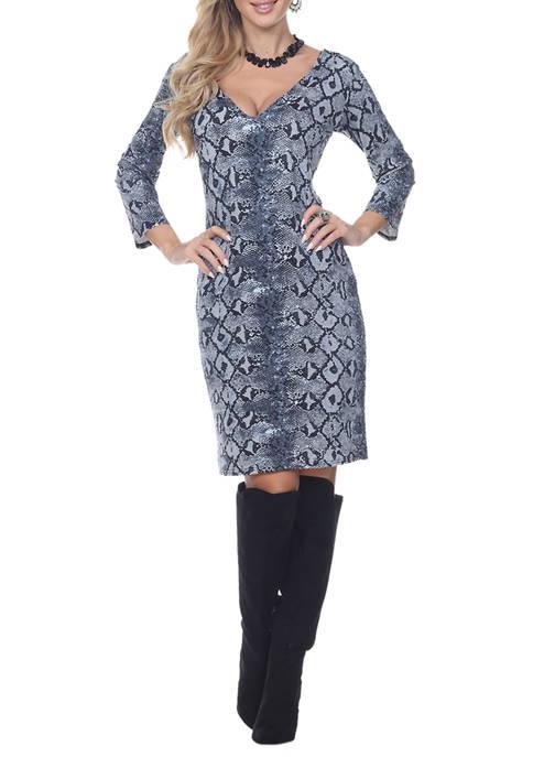 Snakeskin Vivian Dress