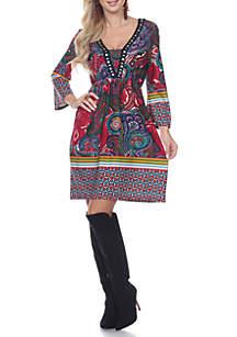 Dolly Embellished Neckline Dress