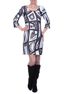 Genevieve Bell Sleeved Dress