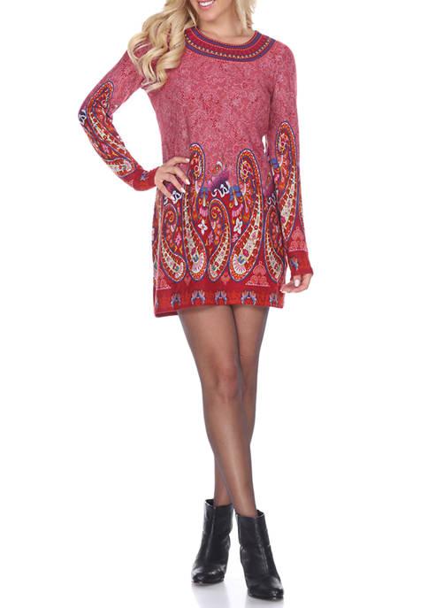 Sandrine Embroidered Sweater Dress