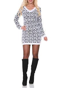 Angora Like Sweater Dress