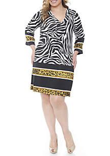 Plus Size 'Madelyn' Zebra Printed Dress