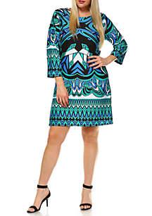 Plus Size 'Revolution' Bell Sleeve Dress