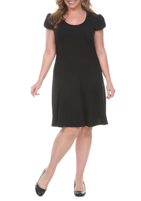 White Mark Plus Size Cara Fit and Flare