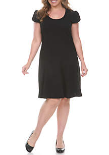 Plus Size Cara Fit and Flare Dress