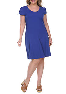 White Mark Plus Size 'Cara' Fit and Flare Dress