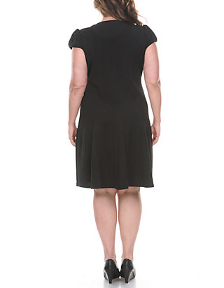 White Mark Plus Size \'Cara\' Fit and Flare Dress   belk