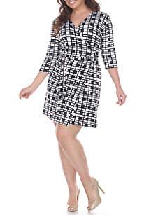 Plus Size 'Maria' Cross Wrap Dress