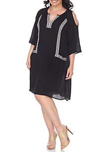 Plus Size Marybeth Embroidered Dress