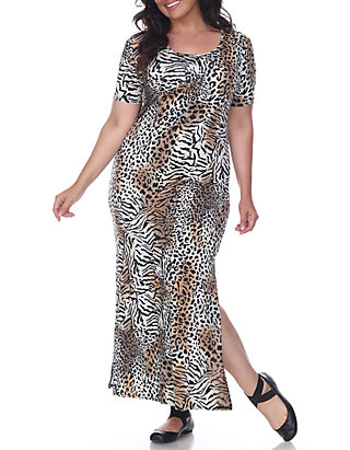 White Mark Plus Size \'Jasmine\' Maxi Dress