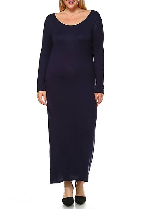 White Mark Plus Size Ria Maxi Dress