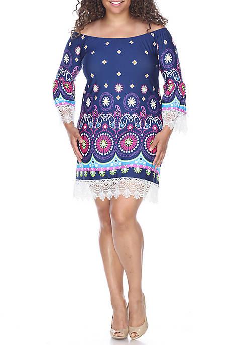 Plus Size Rakel Lace Trim Dress