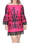 Plus Size Uniss Lace Trim Dress
