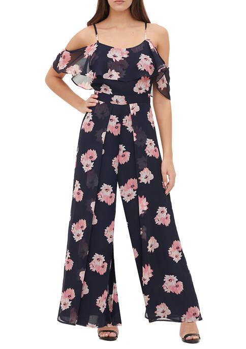 Womens Lily Cluster Chiffon Jumpsuit