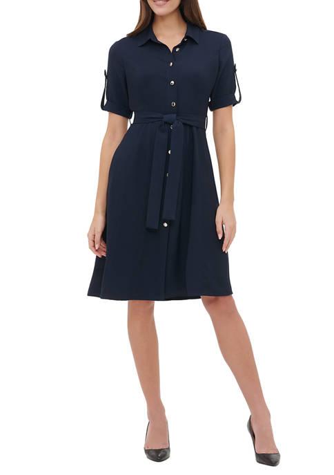 Womens Double Twill Shirt Dress