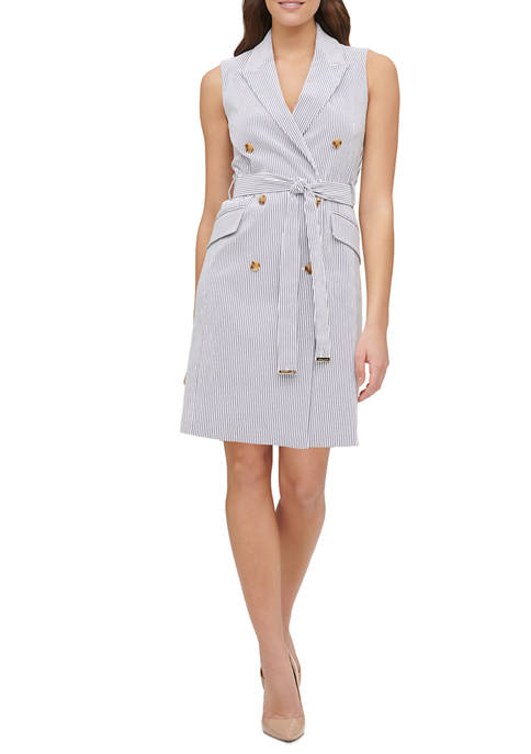 Tommy Hilfiger Women S Seersucker Millennium Shirt Dress Belk