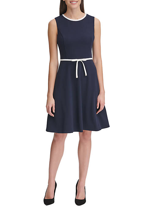 Tommy Hilfiger Scuba Crepe Fit and Flare Dress
