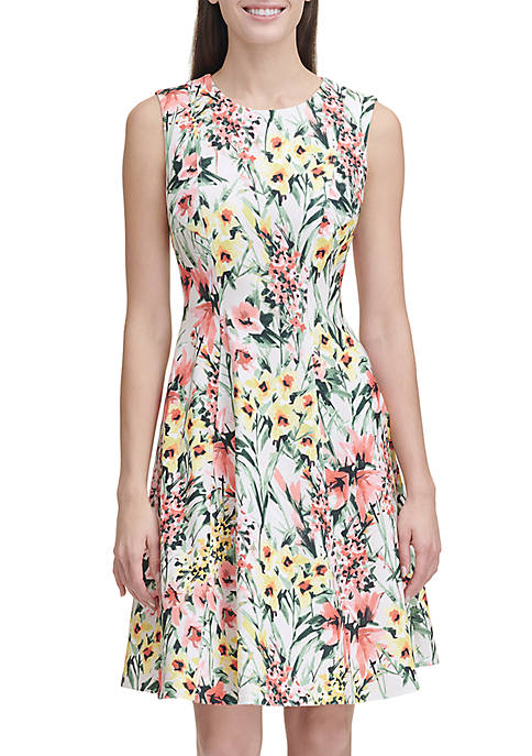 Sleeveless Floral English Garden Dress