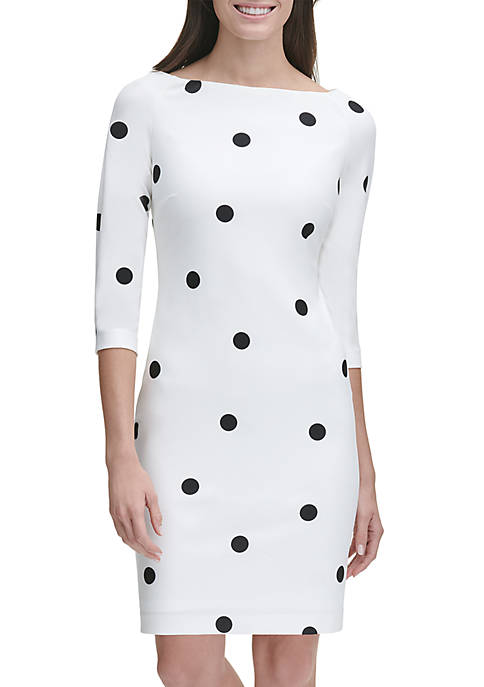 3/4 Sleeve Tango Dot Dress