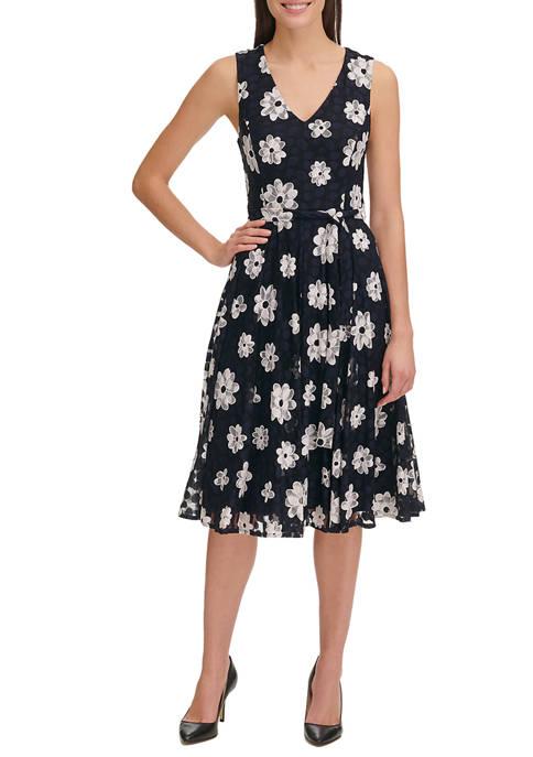 Womens Daisy Lace A Line Dress