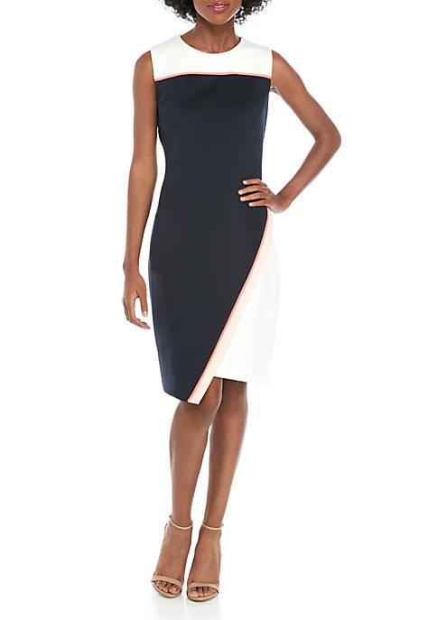 Sleeveless Asymmetric Scuba Dress