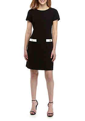 340dad9590 Tommy Hilfiger Short Sleeve Crepe Pocket Detail Dress ...
