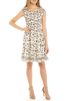 dacbf277d1 Sophie Max Cap Sleeve Pleat Bodice Dress ...